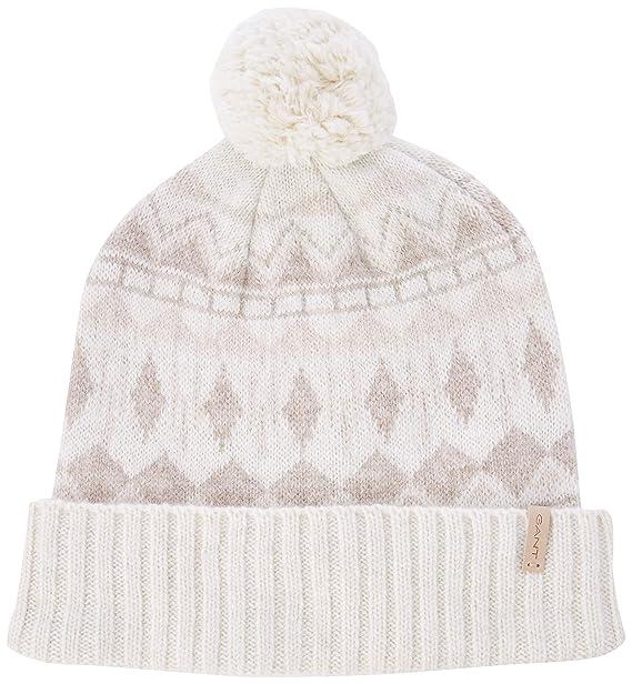 Gant O2. Nordic Knit Hat Gorro de Punto, Marfil (Eggshell), Talla ...