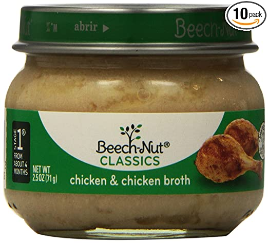 Beech Nut Stage 1 Chicken And Broth 25 Ounce Pack Of 10 Amazon