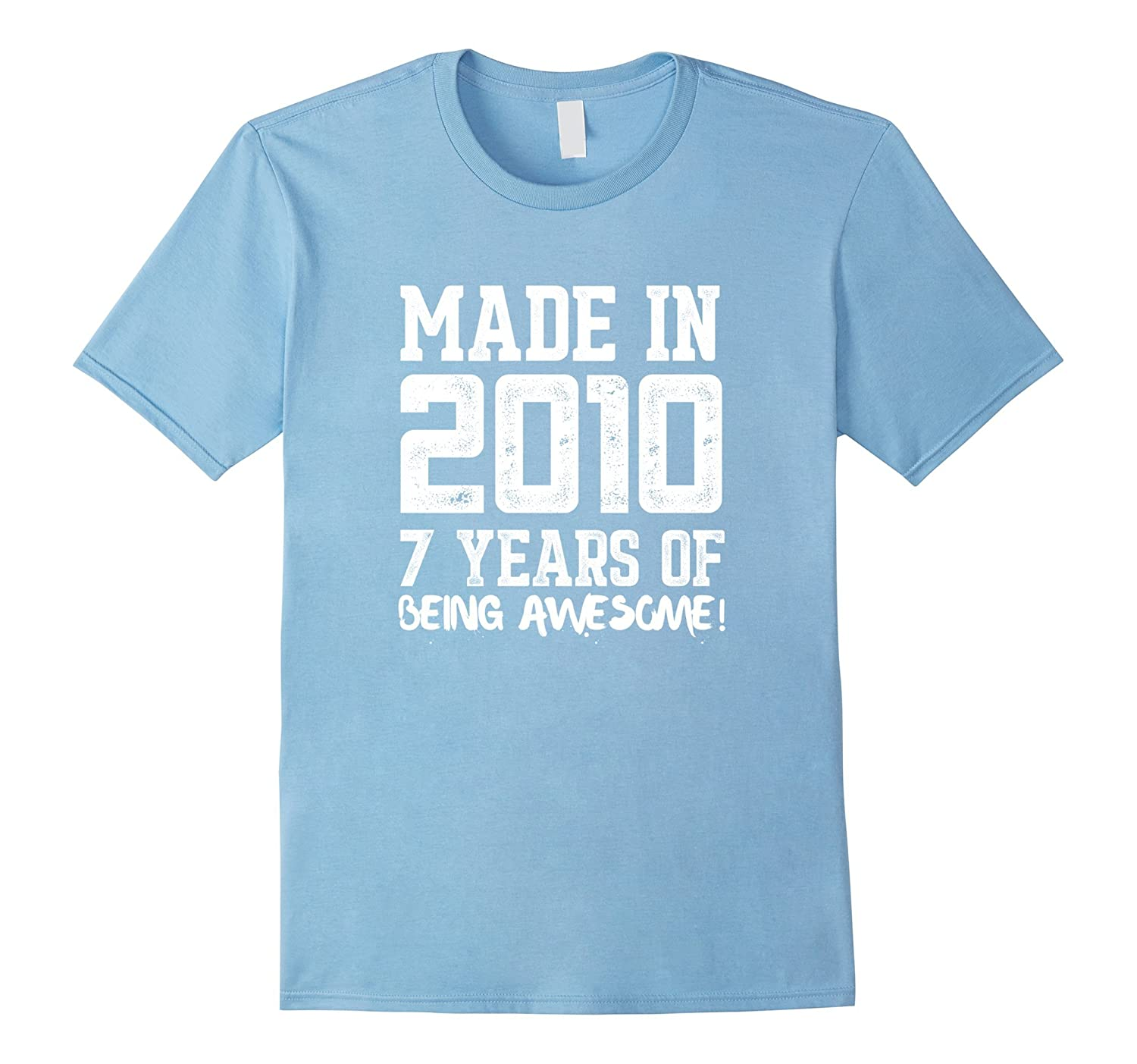 7th Birthday Shirt Gift Age 7 Year Old Boy Girl Tshirt Tee Art