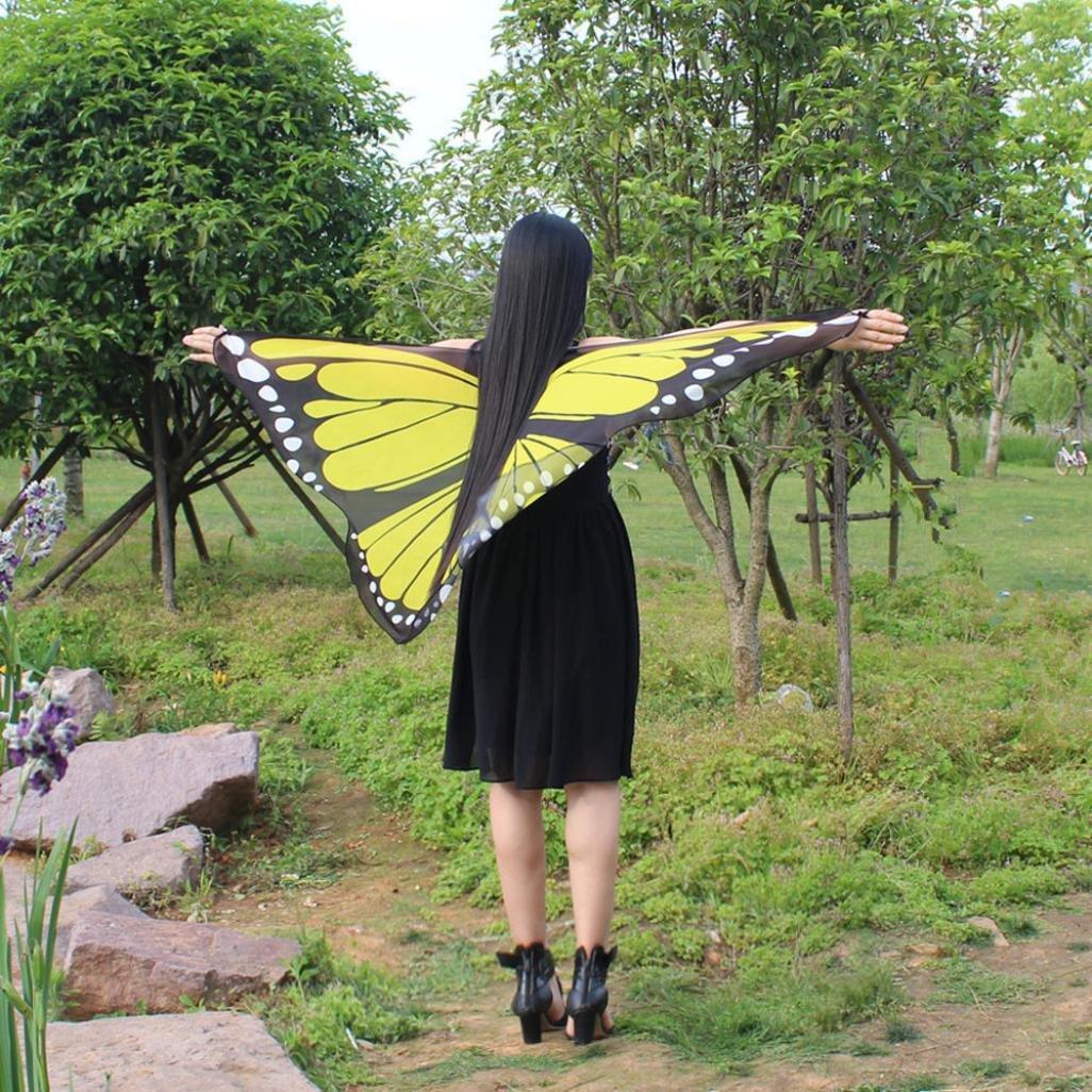 Daily Party Dunkel Lila HLHN Frauen Schmetterling Fl/ügel Schal Schals Nymphe Pixie Poncho Kost/üm Zubeh/ör f/ür Show schmetterling kost/üm