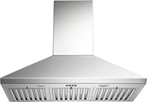 KOBE CHX8130SQB-1 Brillia 30-inch Wall Mount Range Hood, 3-Speed, 750 CFM, Fits Ceiling Height 7.5'-8.5'