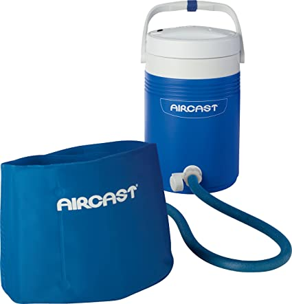 b5d379e8d1 Amazon.com : DonJoy Aircast Cryo/Cuff Cold Therapy: Back/Hip/Rib Cryo/Cuff  with Non-Motorized (Gravity-Fed) Cooler, One Size Fits Most : Sports &  Outdoors