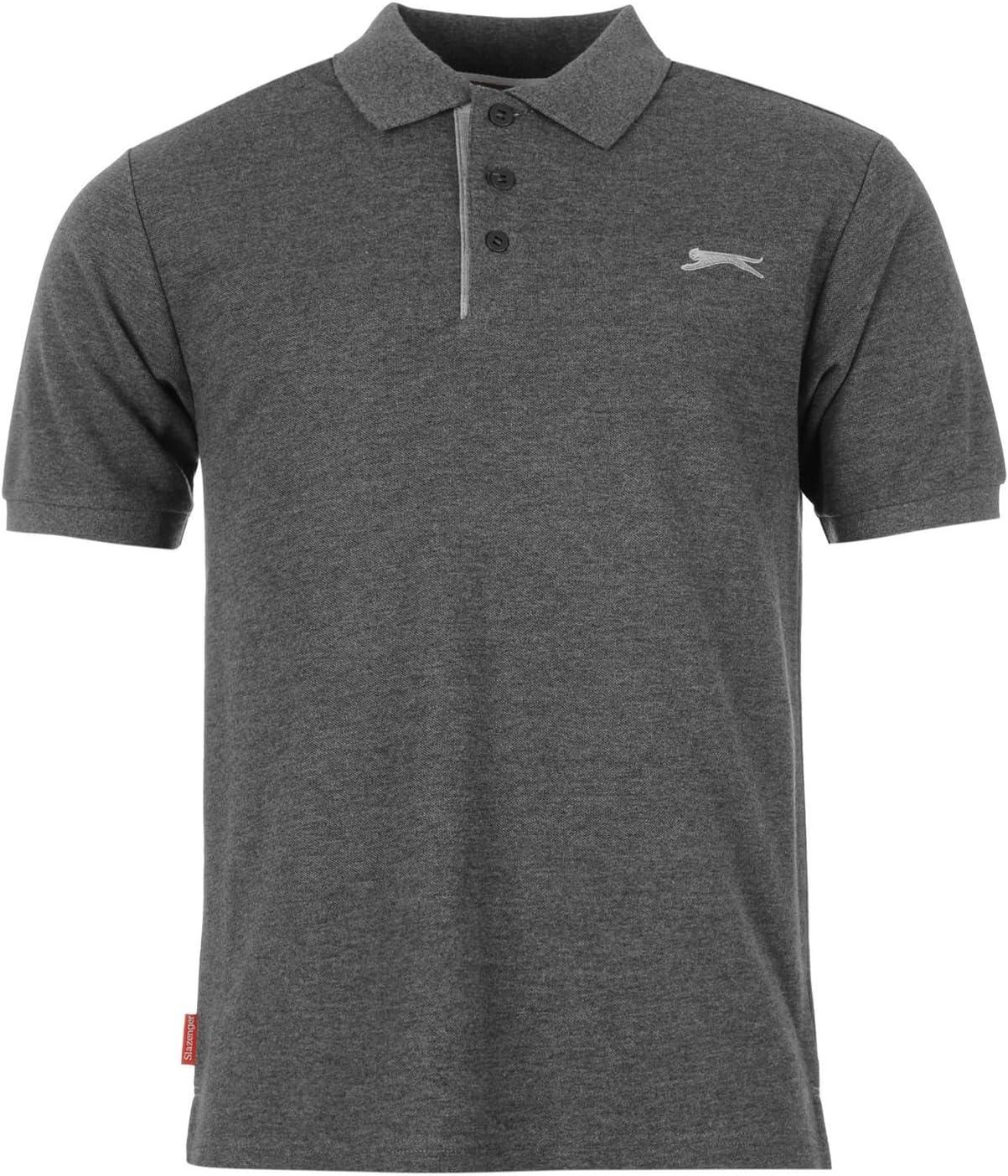 Camisa polo Slazenger para hombre, lisa, color carbón, gris oscuro ...