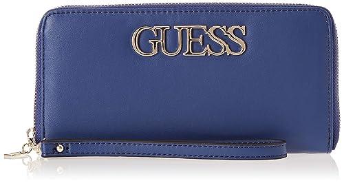 Guess - Felix, Carteras Mujer, Azul (Blue), 21x10x2 cm (W