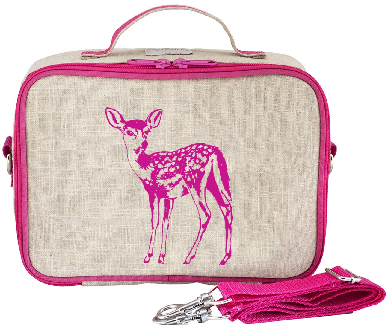 SoYoung Pink Fawn Lunch Box, Raw Linen