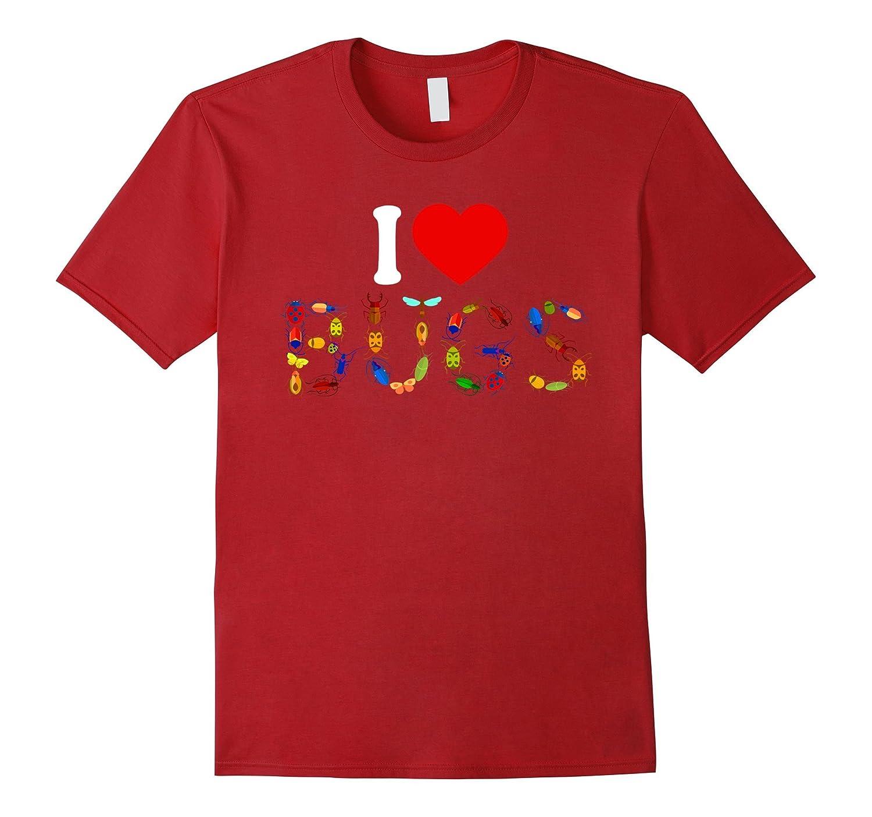 I Love Bugs T Shirt - Insect Print Shirt-ANZ