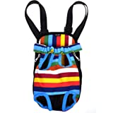 Cosmos Colorful Strip Pattern Pet Dogs Legs Out Front Carrier Bag