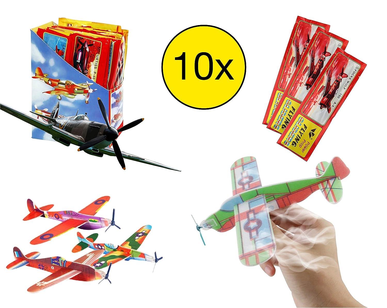 planeurs 10x Pack de Avions Styrol /à Monter planeurs planeurs Polystyr/ène Styrofoam Styrofoam Pour lanniversaire des enfants pour gar/çons et filles de TK-Gruppe