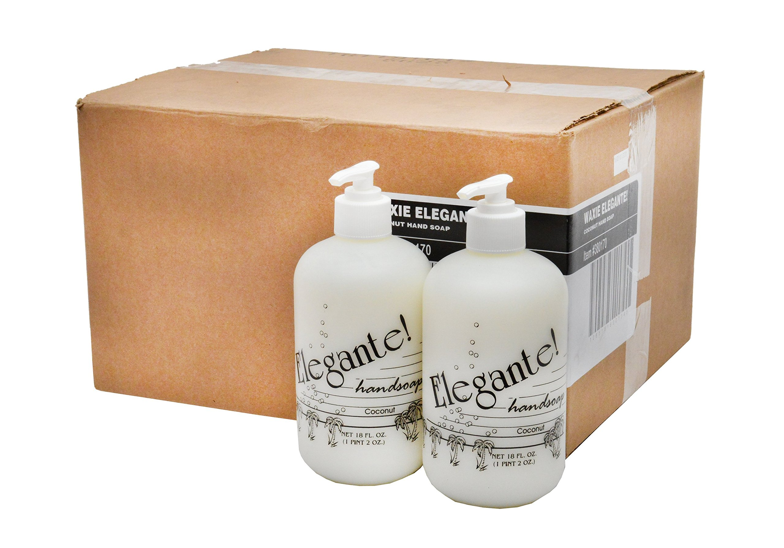 WAXIE Elegante! Liquid Hand Soap, Coconut Scent, 18 oz (Case of 12) by Waxie (Image #4)