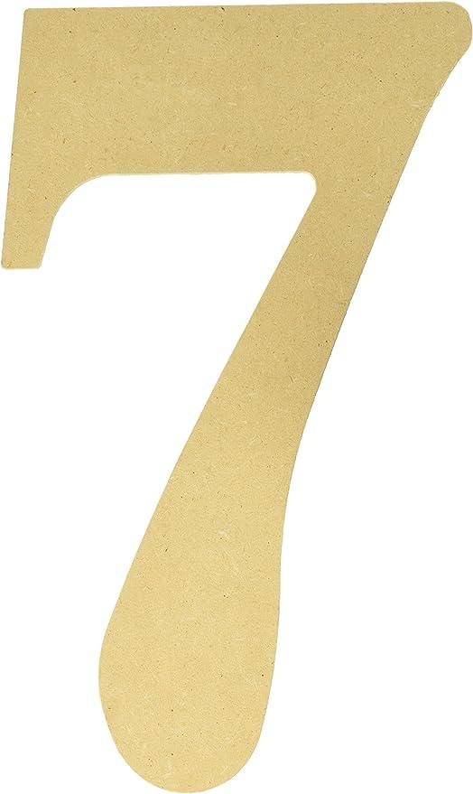 MPI MDF Madera Letra Letras y números, Paleta, Number-7: Amazon.es ...