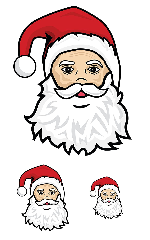 Amazon.com: WALLMAGINATION Christmas Santa Faces (3 Pack) Wall Art ...