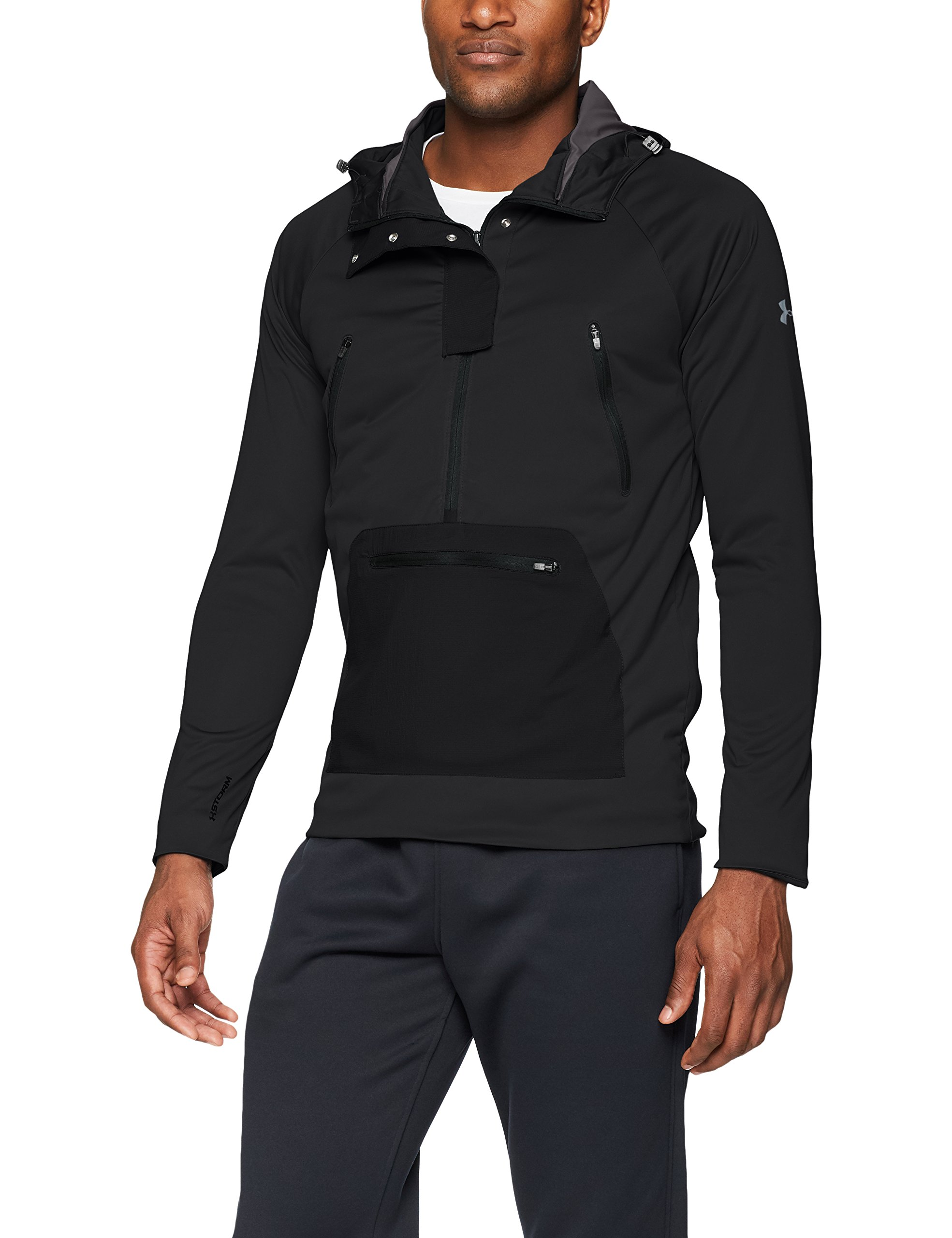 Under Armour Men's Storm Define The Anorak Jacket , Black (001)/Reflective, Large by Under Armour (Image #1)