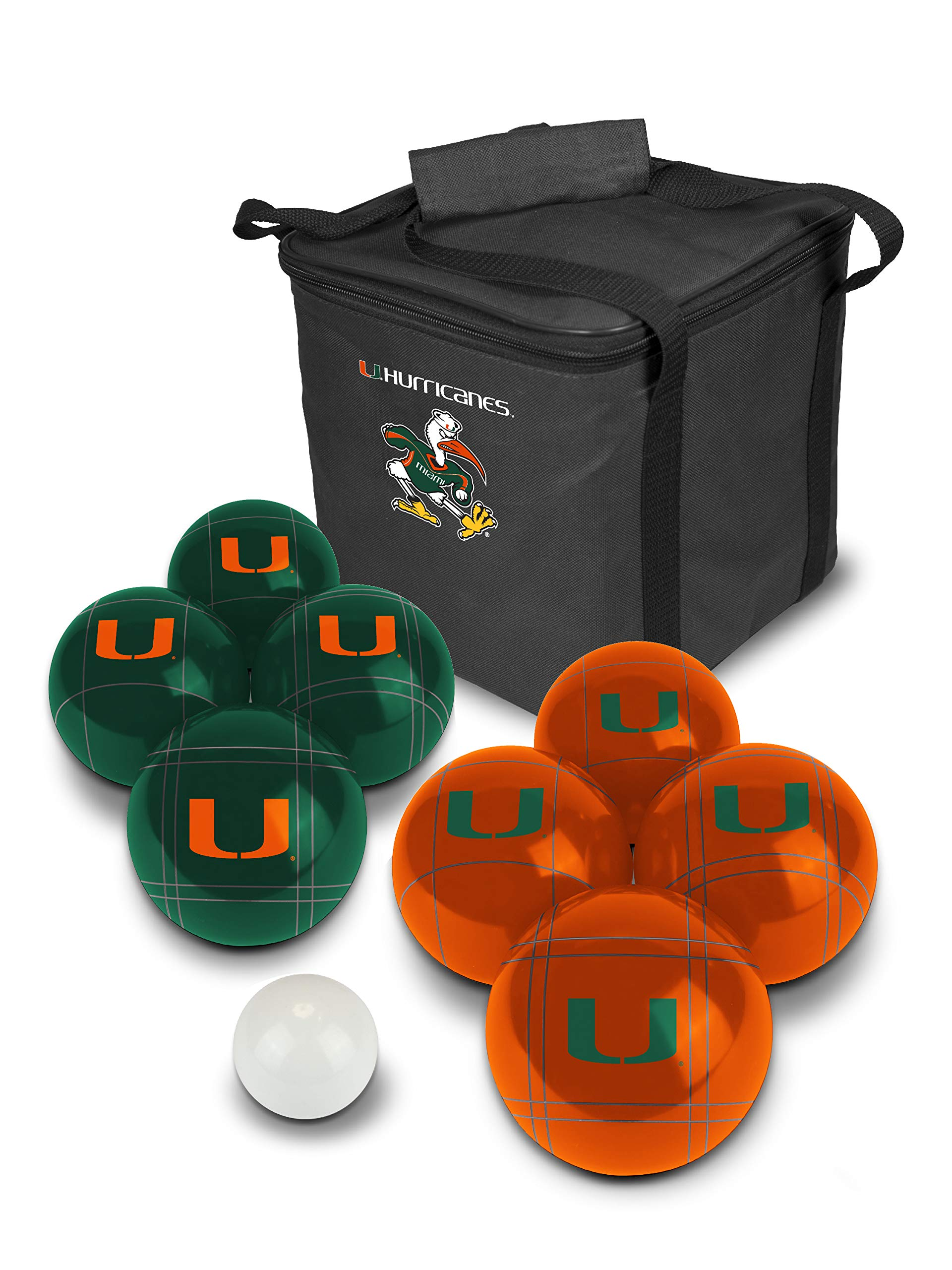 PROLINE NCAA College Miami Hurricanes Bocce Ball Set by PROLINE