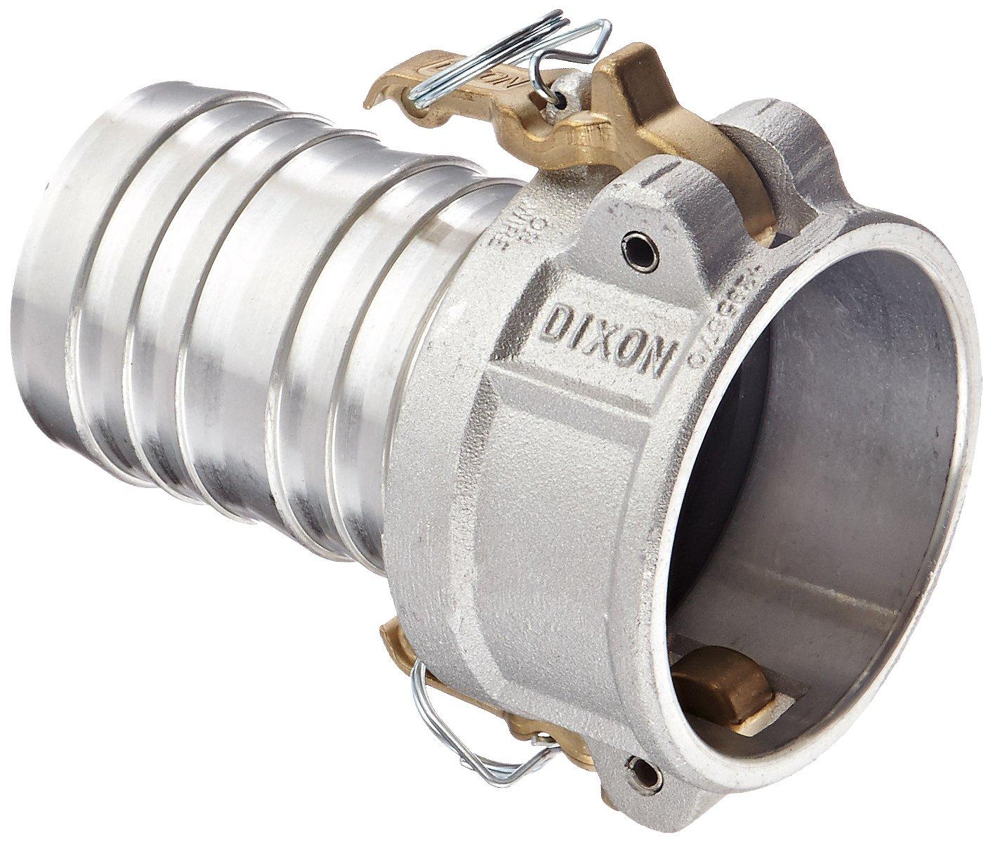 Dixon AC300 Aluminum 356T6 Boss-Lock Type C Cam and Groove Hose Fitting, 3'' Socket x 3'' Hose ID Barbed