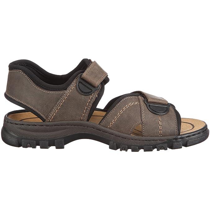 Rieker 26757-14 Mens Touch Fasten Casual Two Strap Sandals Blue Ocean//Black