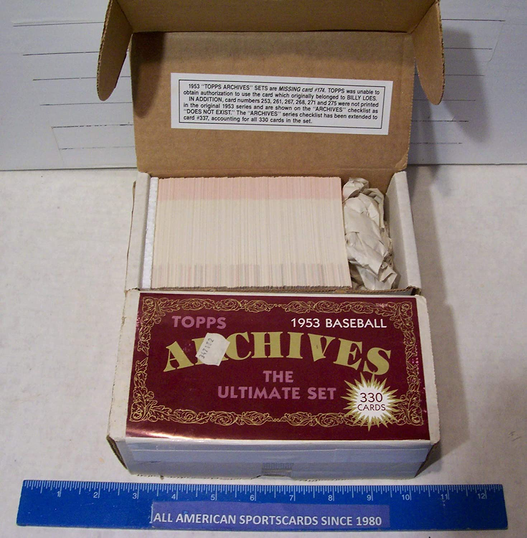Amazon Com 1991 Topps Archives Baseball 1953 Reprint Retail Set 330 Gem Mint Sports Collectibles