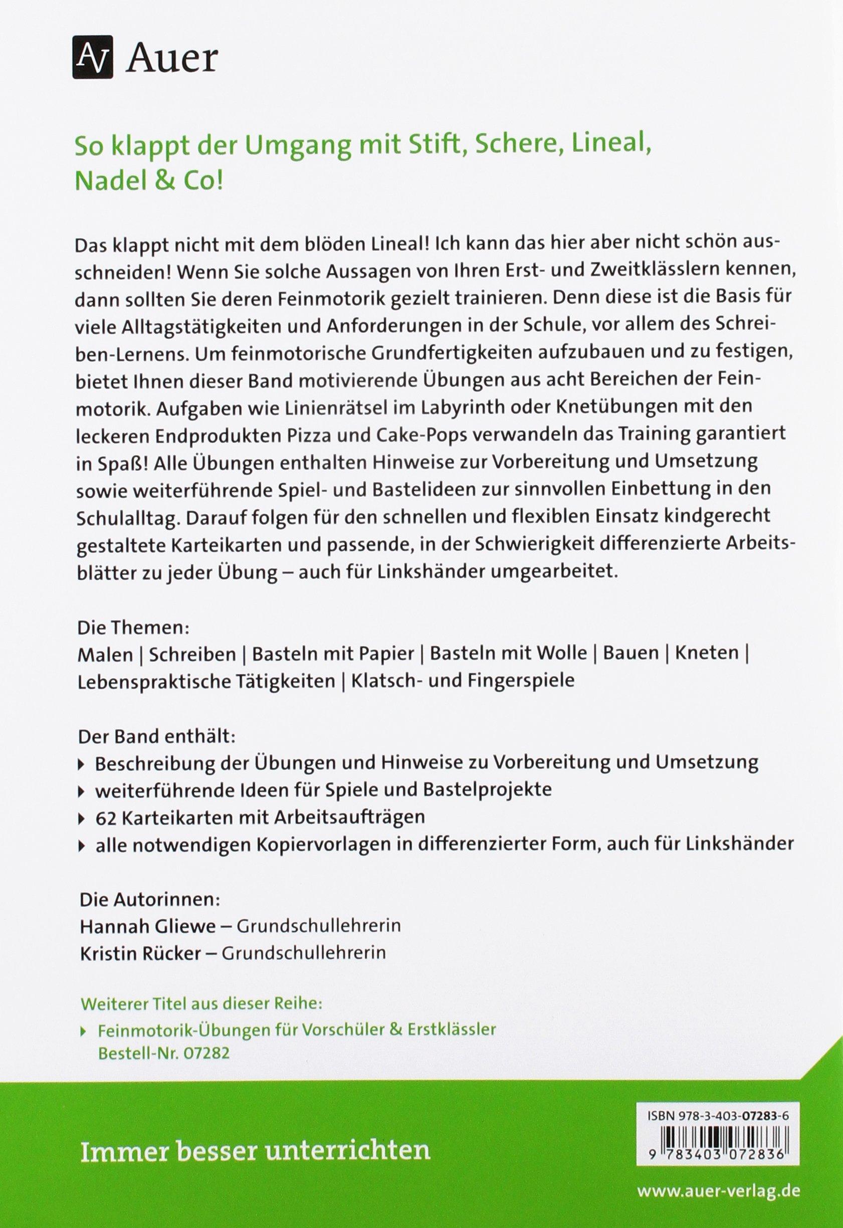 Feinmotorik-Übungen für Erst- und Zweitklässler: differenziert ...