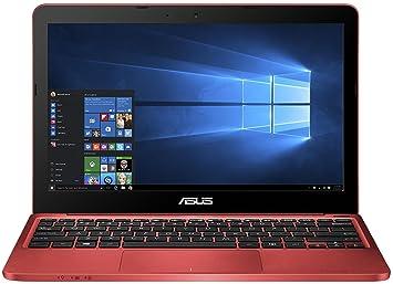 ASUS EeeBook F205TA-FD0064TS - Ordenador portátil (Touchpad, Windows 10 Home, Polímero, 32-bit), color rojo - Teclado QWERTZ alemán - [Importado de ...
