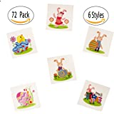 "72 Pack 2"" Assorted Easter Theme Temporary Tattoos - Easter Bunny Easter Egg Design - Easter Party Favors"