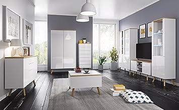 Moderne Wohnwand Anbauwand Schrankwand Milano Hangewand Tv Board