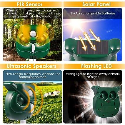 Amazon.com: Shenlin - Repelente solar para animales ...