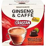 Crastan Capsule Compatibili Dolce Gusto Ginseng e Caffè da Zuccherare - 6 confezioni da 10 capsule [60 capsule]