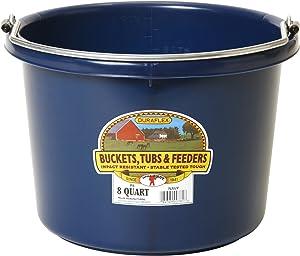 Little Giant P8NAVY Dura Flex Plastic Bucket for Livestock, 8-Quart, Navy Blue