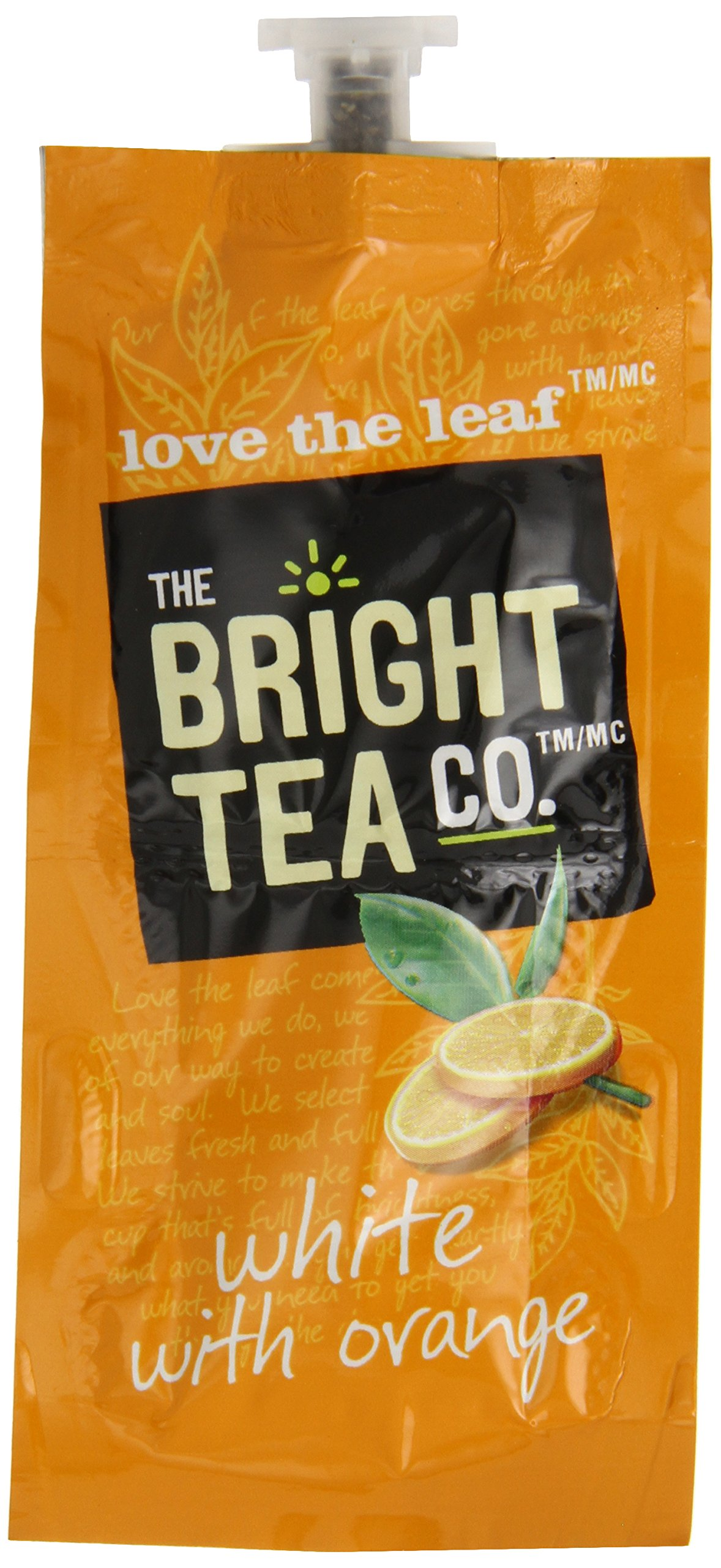 FLAVIA Tea, White with Orange, 20-Count Fresh Packs (Pack of 5) by Flavia