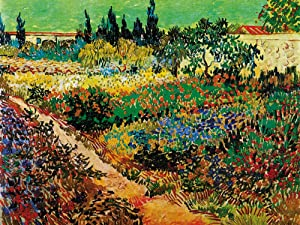 1art1 Vincent Van Gogh Poster Art Print - Blossoming Garden and Path, 1888 (32 x 24 inches)