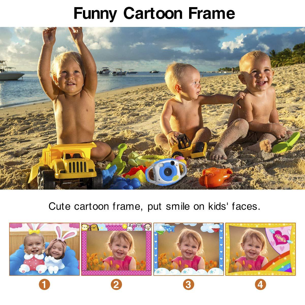 Funkprofi Kids Camera, Kids Digital Video Camera 5MP 1080P HD Recorder Camcorder with 32GB TF Memory Card, 1.77 Inch Screen, Funny Photo Frame, for Kids by Funkprofi (Image #4)