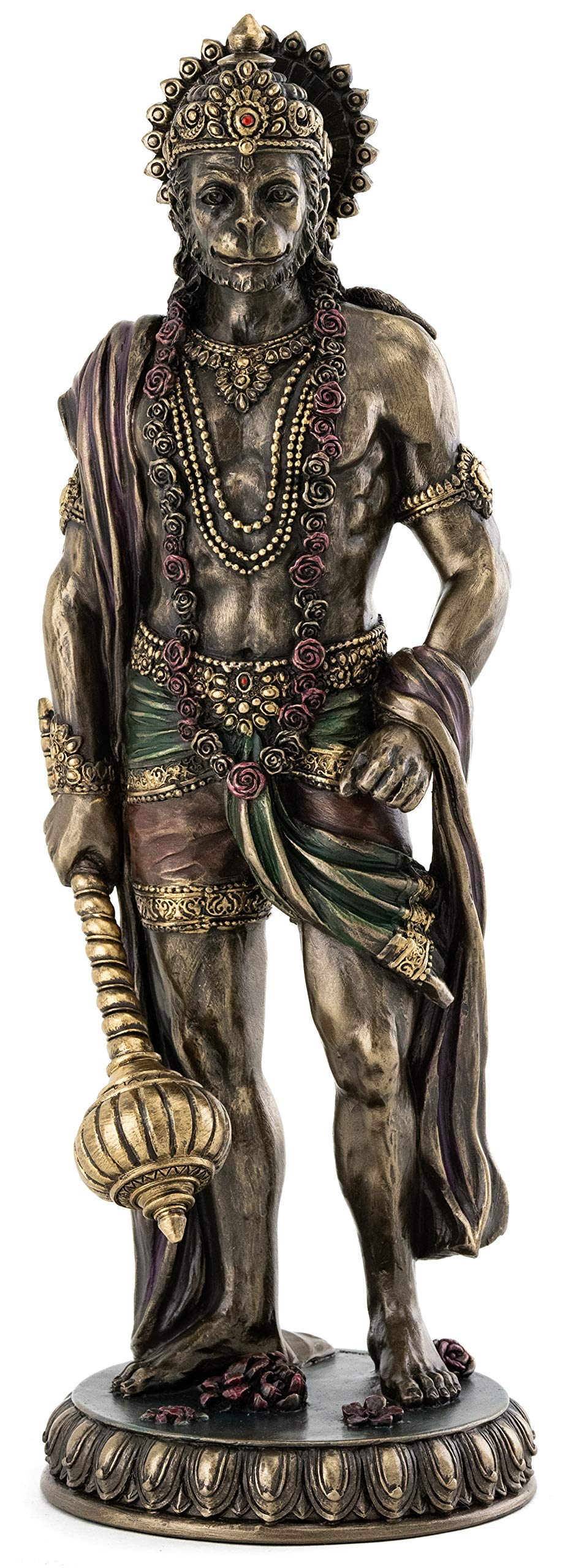 Top Collection Large Hanuman Statue - Hindu God of Strength Sculpture in Premium Cold Cast Bronze - 24.25-Inch Collectible Figurine