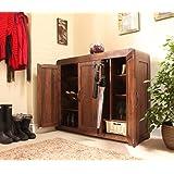 baumhaus shiro walnut extra large shoe cupboard