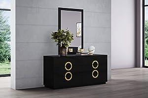 Whiteline Imports Eddy Dresser Double High gloss Black,