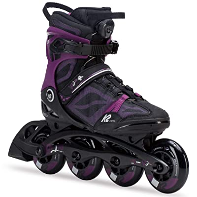 K2 Skate Women's VO2 90 Boa Inline Skate, Black Purple, 6 : Sports & Outdoors