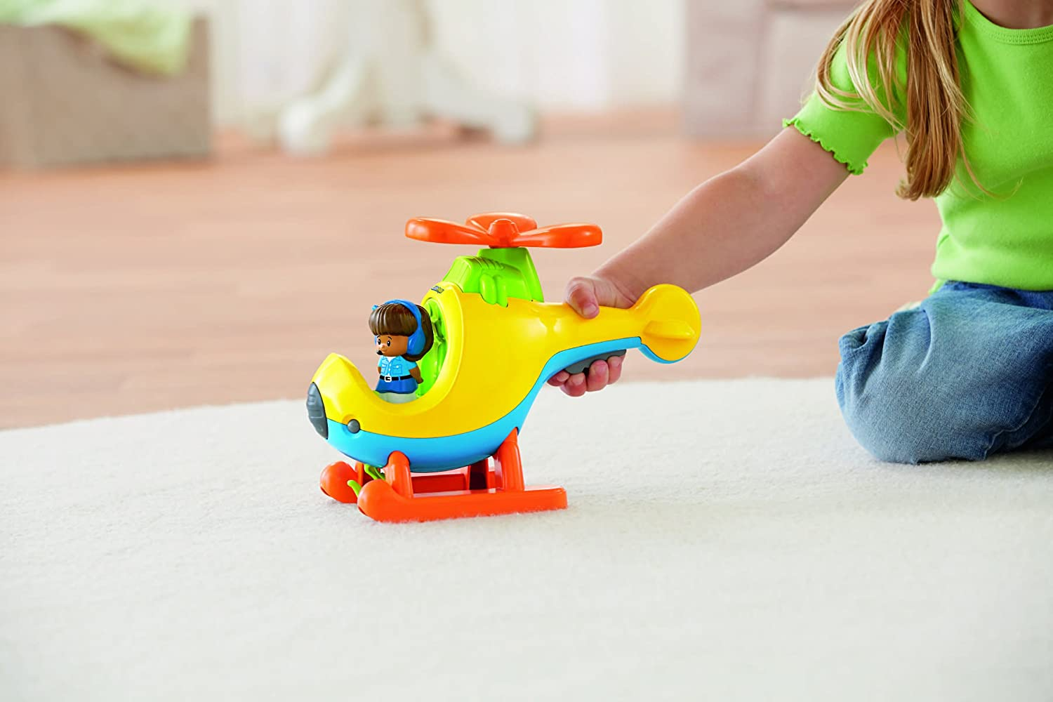 amazon com fisher price little people helicopter toys u0026 games