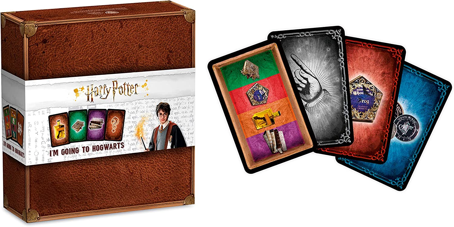 Shuffle- Harry Potter I'm Going to Hogwarts Juego de Cartas, Multicolor (Cartamundi 108449992)
