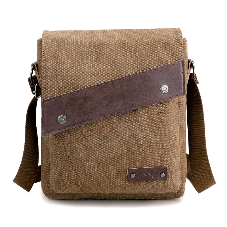 Foino Borsa Tracolla Uomo Borsello Sportiva Borse a Spalla Viaggio Sacchetto per Tablet Tasche Laterale Borsa Messenger Bag Vintage