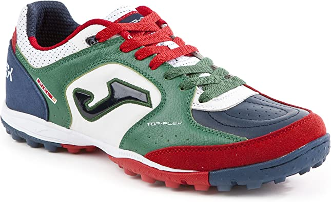 Joma Top Flex 726 Green-White Turf Zapatillas de fútbol Sala Outdoor Hombre topw.726.TF, Multicolor, White-Green-Red: Amazon.es: Deportes y aire libre
