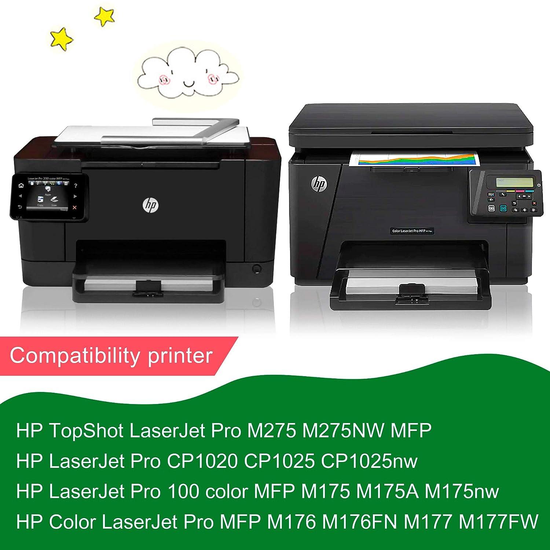 GREENSKY 126A CE310A 4 cartuchos de tóner compatibles para HP ...