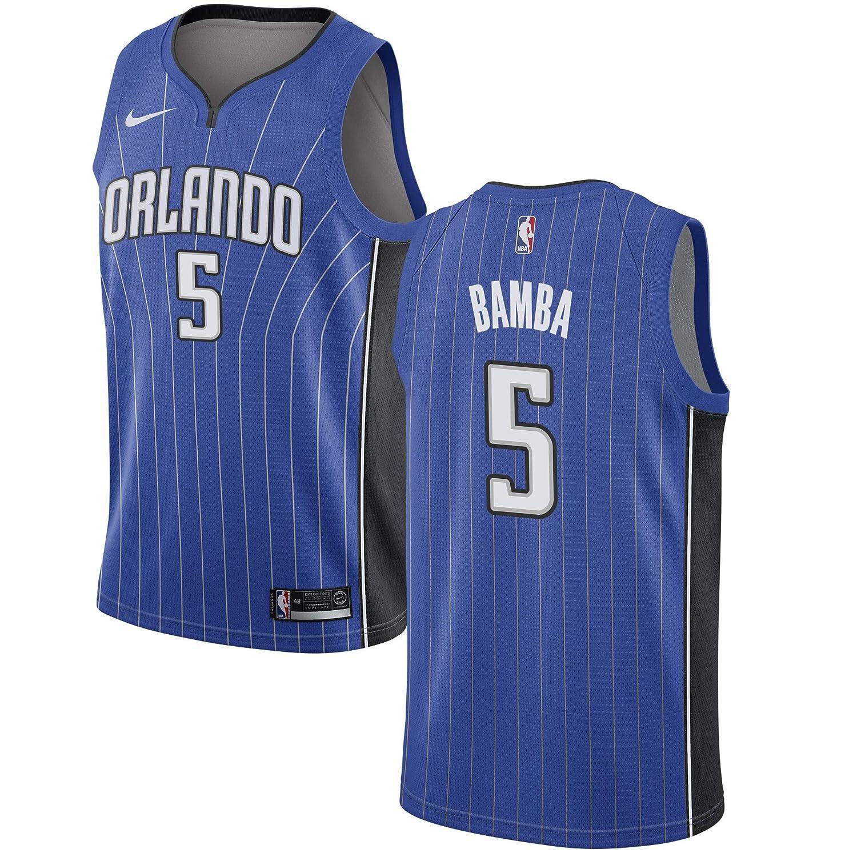 low priced 4f18c fc291 Amazon.com : Nike Mohamed Bamba Orlando Magic Blue Swingman ...
