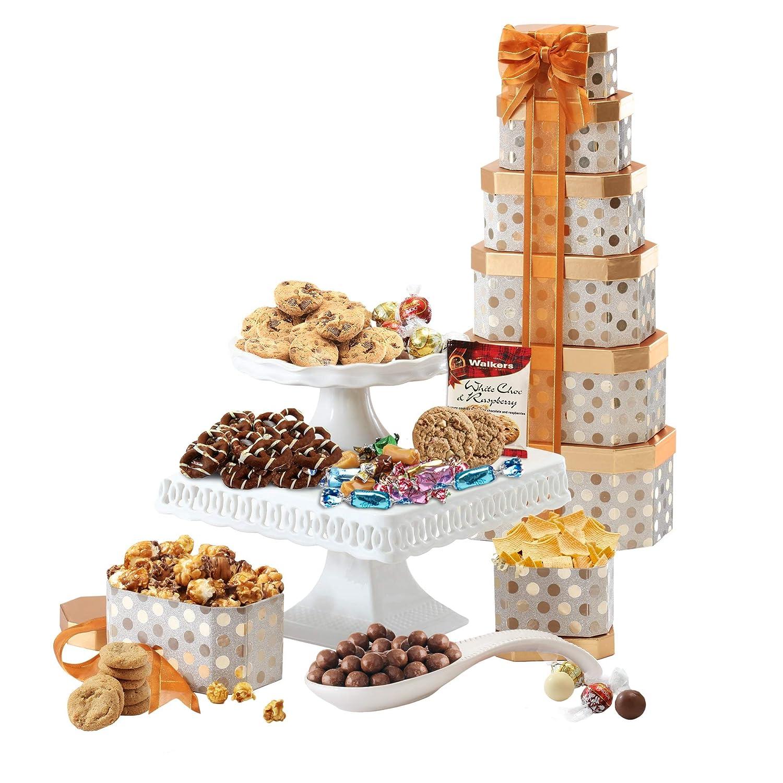 Broadway Basketeers Gourmet Valentine's Day Chocolate Gift Tower (Kosher Certified)