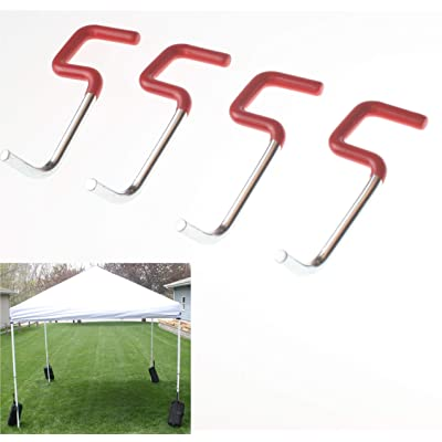 "Impakt Canopy Weight Hanger for Tailgate Canopy Tent for Hanging Canopy Weights and Sand Bags, Fits 1"" and Under Canopy Legs, Set of 4: Sports & Outdoors"