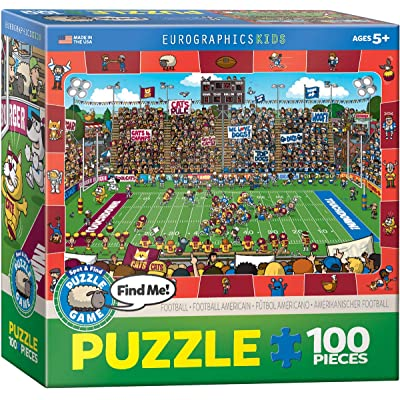 EuroGraphics Football Spot & Find Puzzle (100-Piece) (6100-0474): Toys & Games