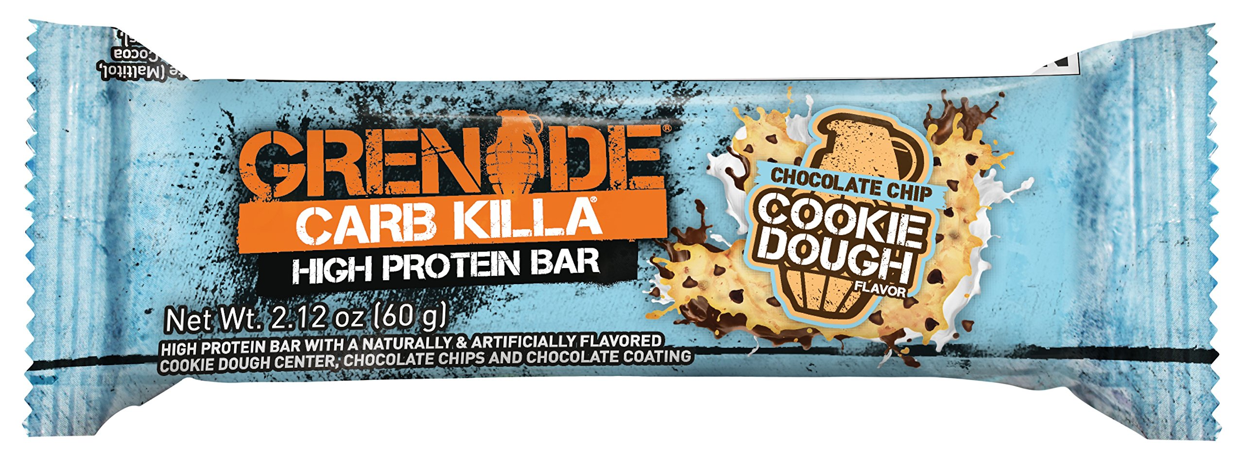 Grenade Carb Killa Bar, Chocolate Chip Cookie Dough, 12 Count