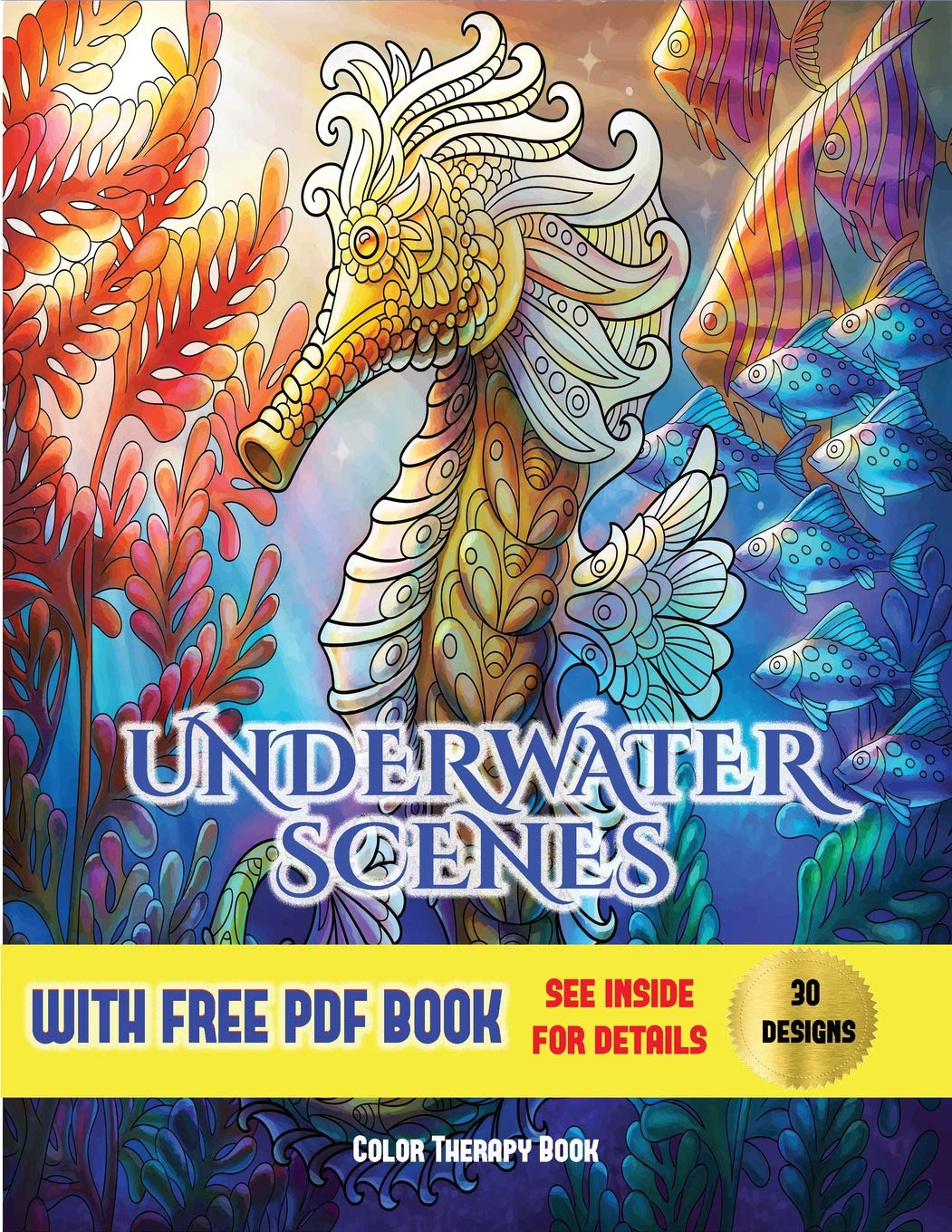 - Amazon.com: Color Therapy Book (Underwater Scenes): An Adult