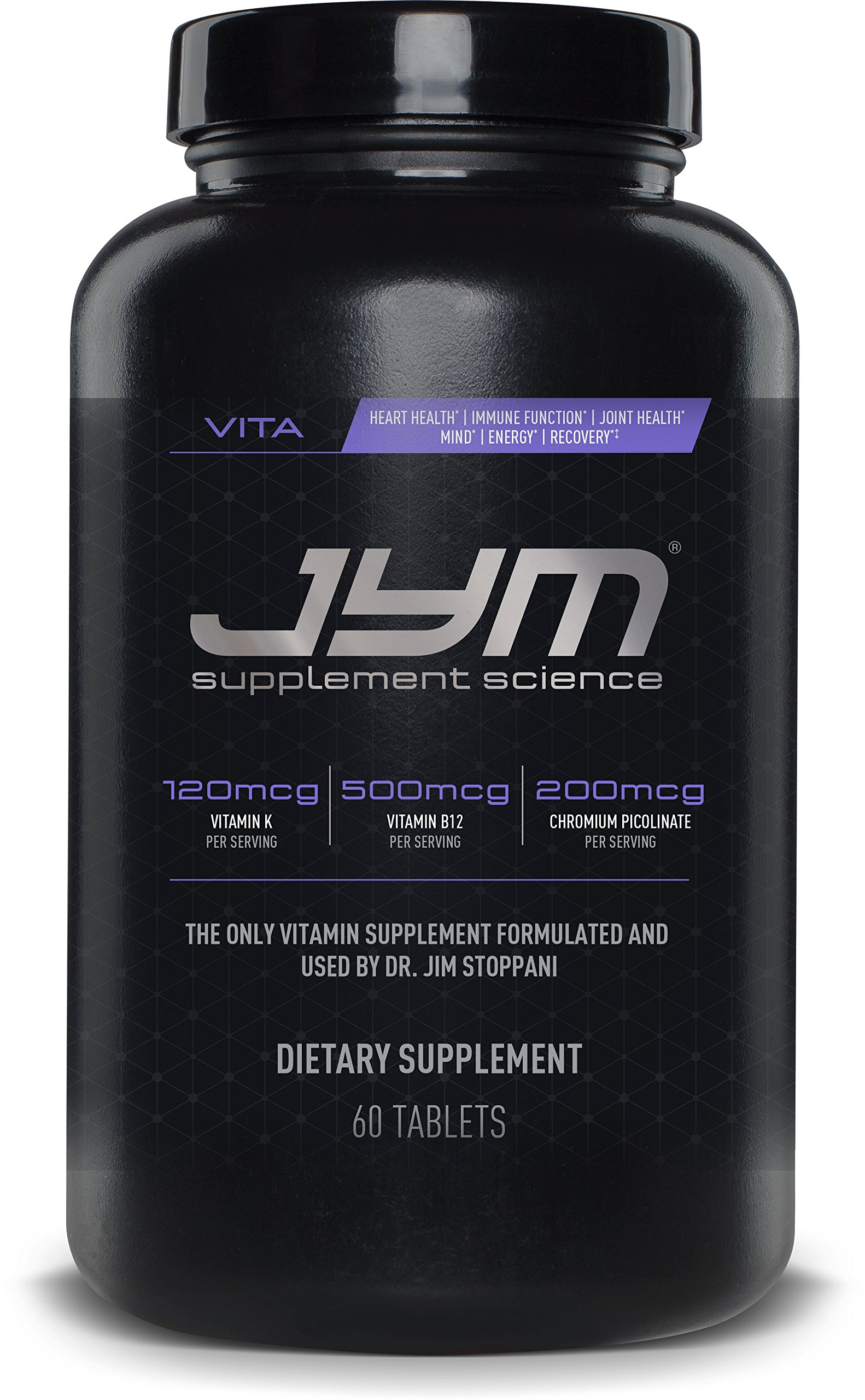 JYM Sports Multivitamin Supplement Tablets - Vitamins A, C, E, and K | JYM Supplemental Science | 60 Tablets by JYM Supplement Science