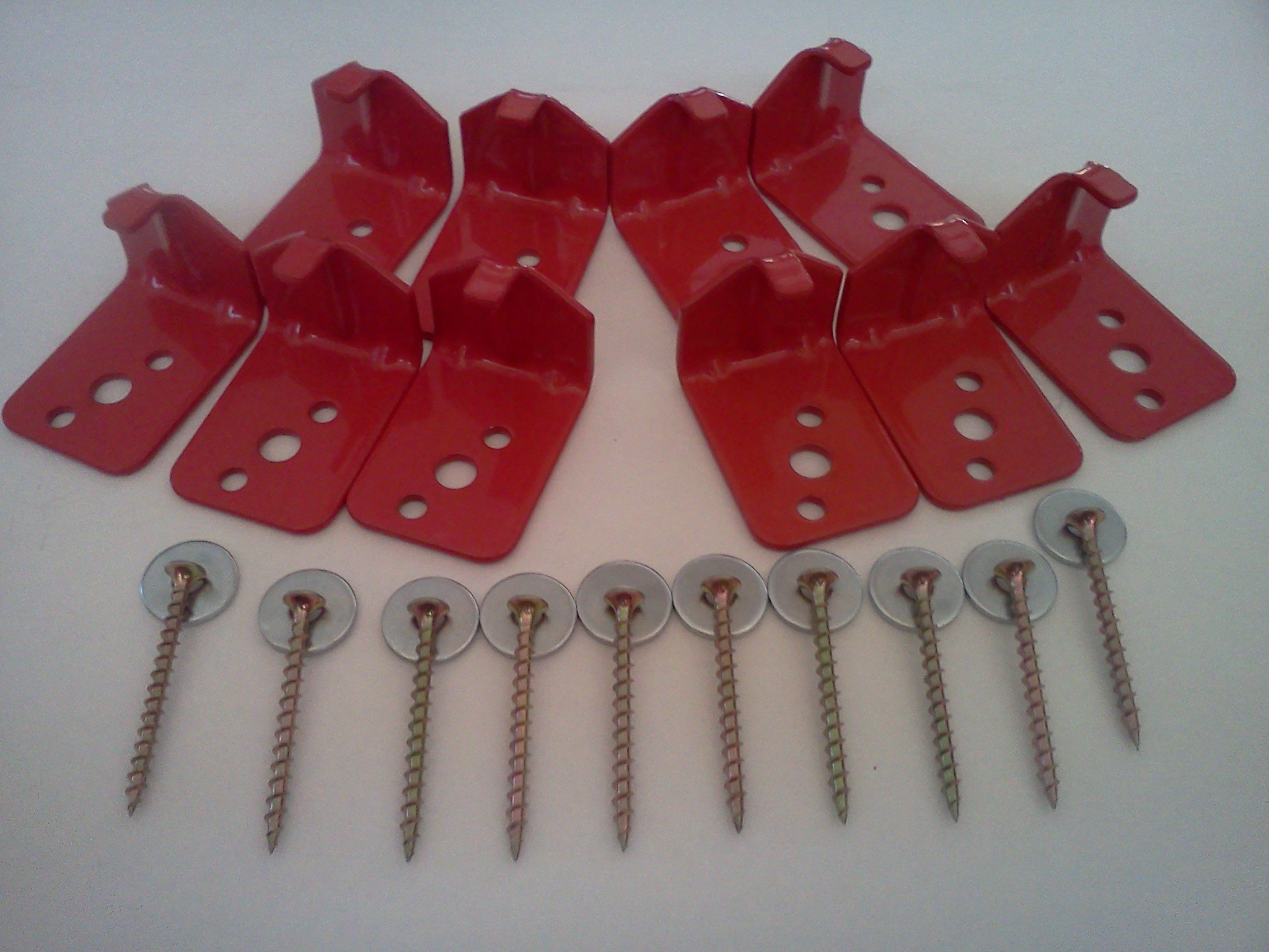 10 - Universal Fire Extinguisher Wall Hook, Mount, Bracket, Hanger for 5 Lb. Extinguisher - FREE SCREWS & WASHERS INCLUDED