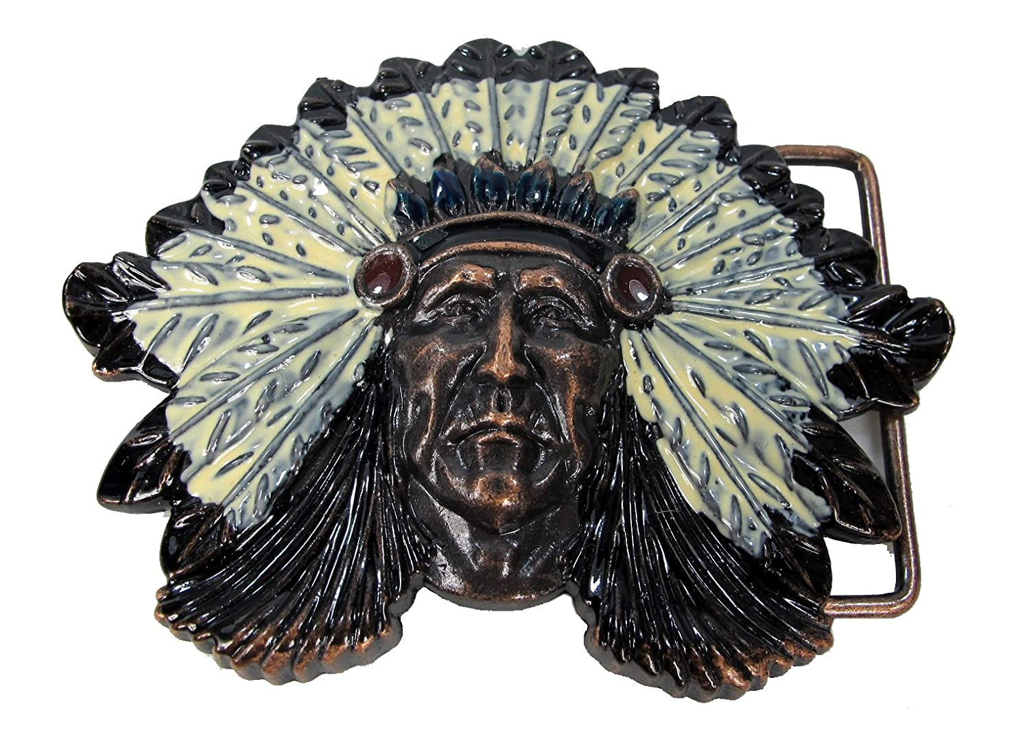 Wolverine Native Indian Chief Head Belt Buckle Replica