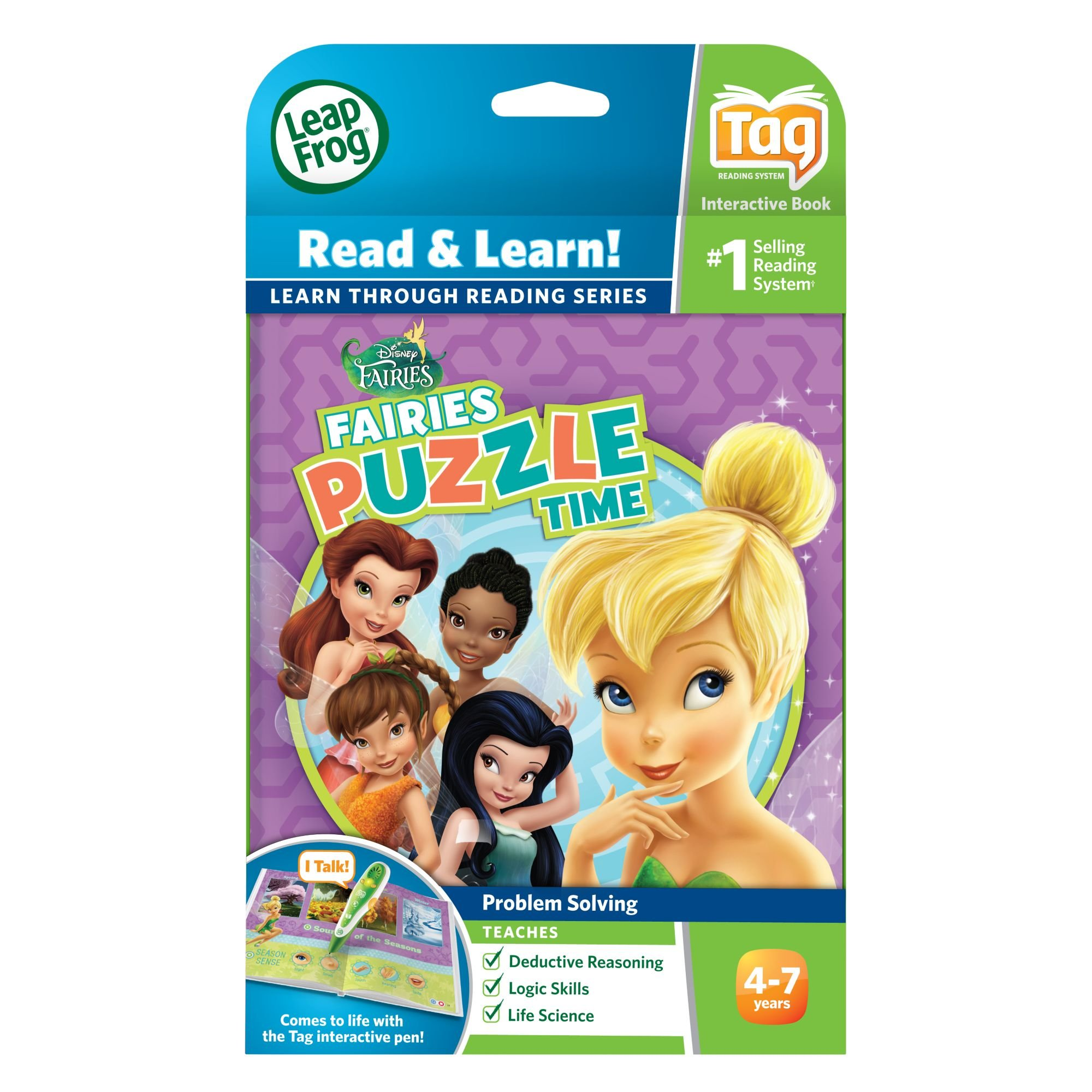 LeapFrog LeapReader Book: Disney Fairies Puzzle Time (works with Tag) by LeapFrog (Image #4)
