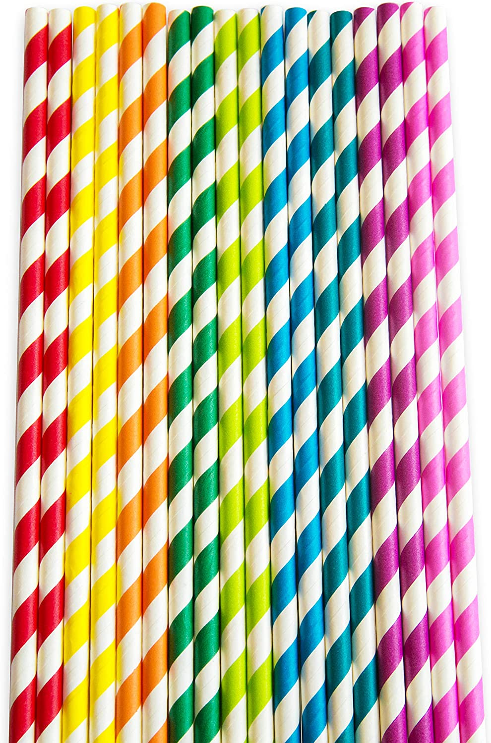 Weddings /& All Occasions. Great for Cocktails Suitable for Parties Cold Drinks /& Juices Paper Straws by Sidela Mills-150 Multicoloured Pack Biodegradable Recyclable Drinking Straws